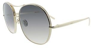 Chloé Nola Ce 128s 744 Gold Aviator Sunglasses.