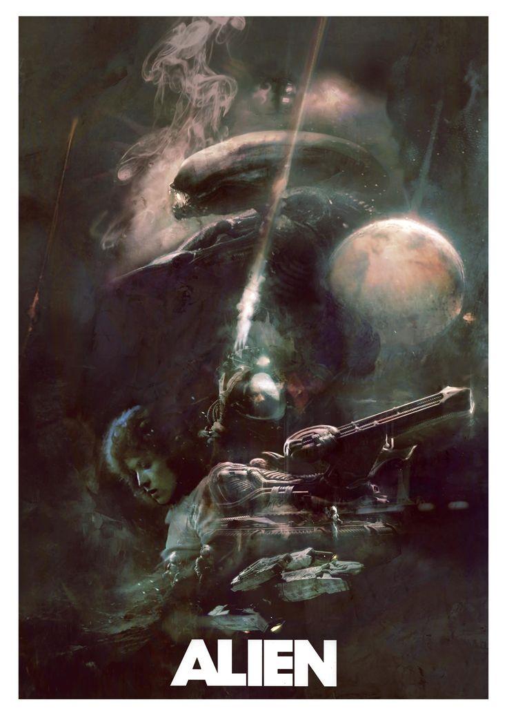 Wisconsin-based artist Christopher Shy's Alien 2 poster