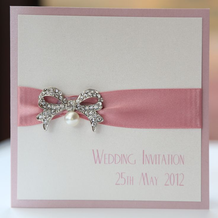 Ivory u0026 Pink Vintage Pearl Bow Wedding