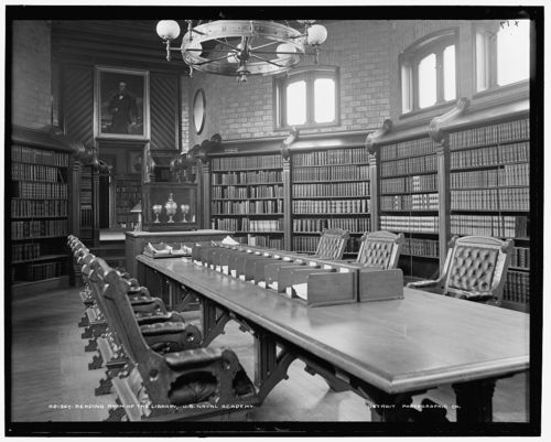 Inside The Reading Room Of The U.S. Naval Academy Library In 1900 Part 45