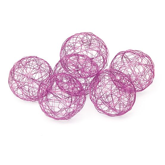 wire decorator balls (available in three sizes) - pink