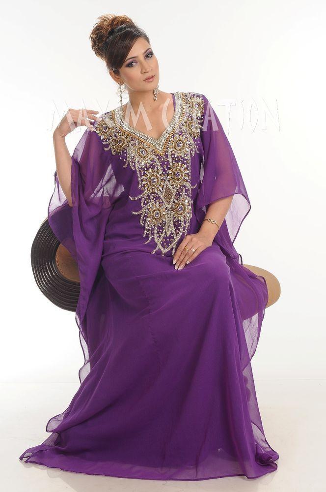 Dubai Farasha Moroccan Kaftan Dress Abaya Jilbab Islamic Arabian clothing 4048 #MaximCreation #Kaftan #Formal