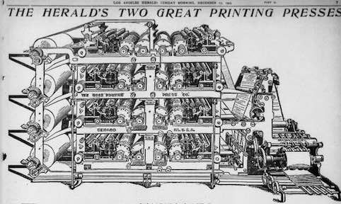 The Offset Lithographic Printing Press was patented in 1875 by Robert Barclay of England for printing on tin.