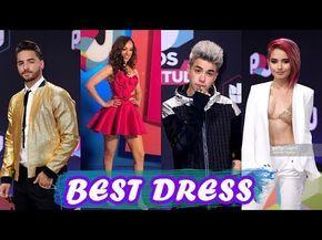 Mejores y Peor Vestidos de PREMIOS JUVENTUD 2017 | Katie Angel - MALUMA -rosymcmichael - YouTube