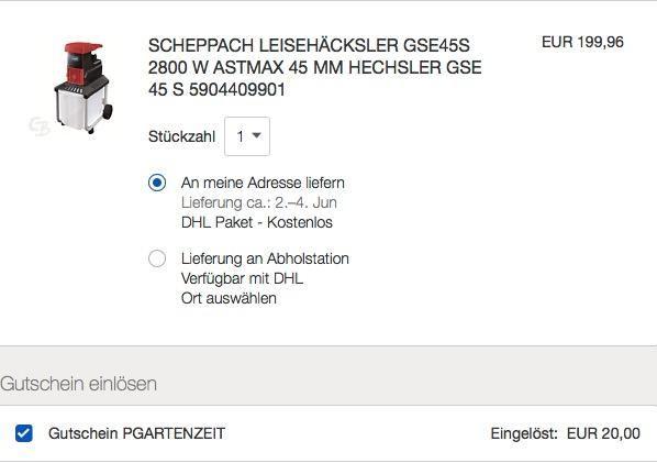 Ebay 10 Gutschein Auf Garten Heimwerkerartikeln Scheppach Leisehacksler Gse45s 2800 W Gutscheine Ebay Heimwerken