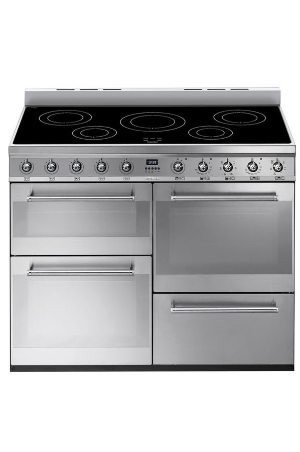 Piano de cuisson Smeg SYD4110I INOX - induction hob with 5 rings and three ovens