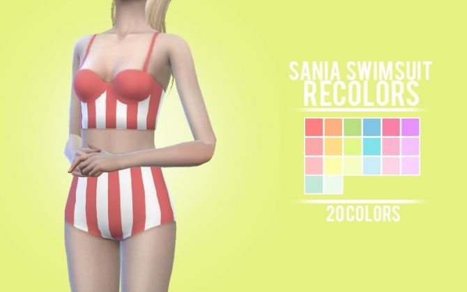 Sania swimsuit longline ver. recolors at Sens Felipa via Sims 4 Updates