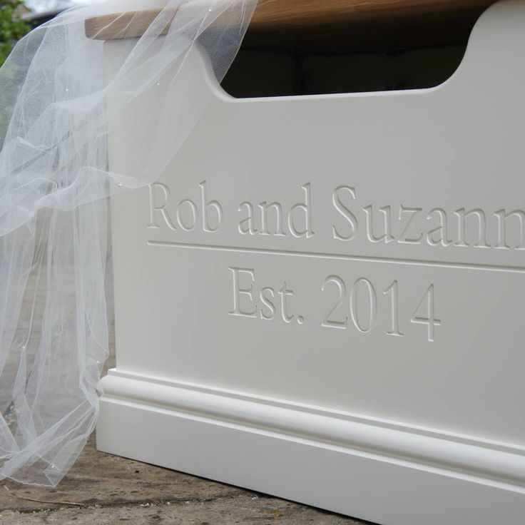 Personalised Wedding Storage Box By Chatsworth Cabinets |  Notonthehighstreet.com