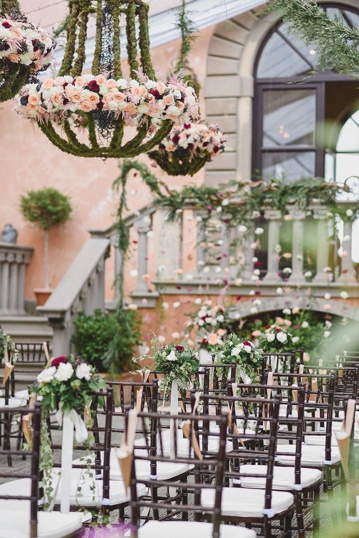 Outdoor Hochzeit: Blumendeko