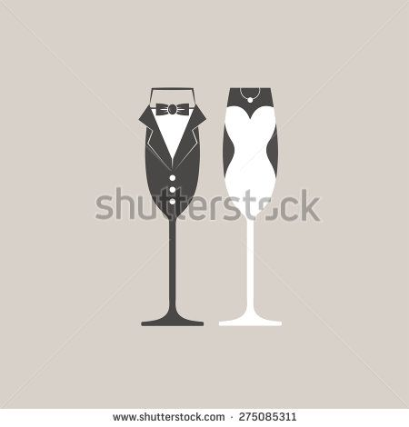 Wedding bride and groom champagne flutes glasses vector http://www.shutterstock.com/pic-275085311/stock-vector-wedding-bride-and-groom-champagne-flutes-glasses-vector.html?src=uIoWRQhlFCQnBgd6x4YVpw-1-3