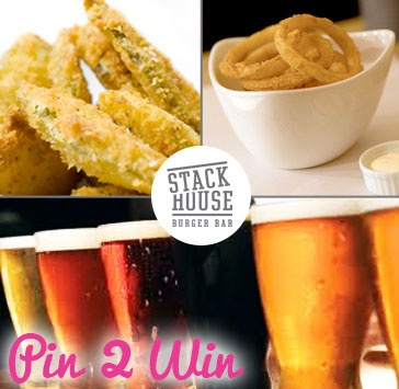 Today's Pin2Win deal is an awesome night out at the Stack House Burger Bar on Granville Street. Enjoy deep fried pickles, onion rings, two beers, and tons of laughs and good times!   RePin it to Win it!! http://www.socialshopper.com/vancouver_2272