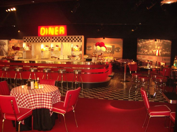 Image detail for -American Diner Themed Marquee Interior ...