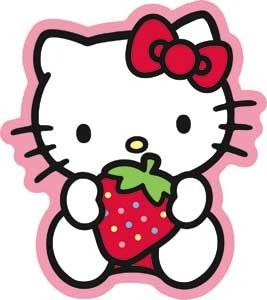 Search: strawberry stickers > Hello Kitty Strawberry Sweet Sticker: A Cherry On Top