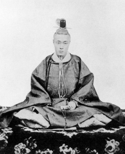 A portrait of Japan's last shogun, Tokugawa Yoshinobu.