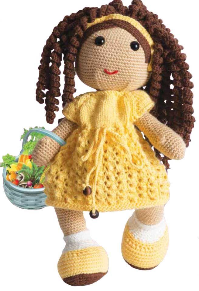 Amigurumi Kıvırcık Saçlı Kız Yapımı - http://m-visible.com/amigurumi-kivircik-sacli-kiz-yapimi.html