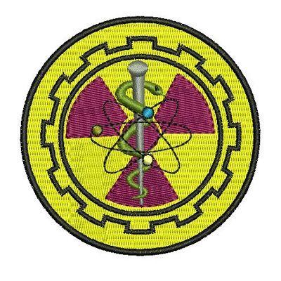 O símbolo da radiologia tem um desenho com vários significados, o símbolo da radiologia também chamado de Brasão do Curso de Radiologia. Lei nº 7.394, de 29 de outubro de 1985.