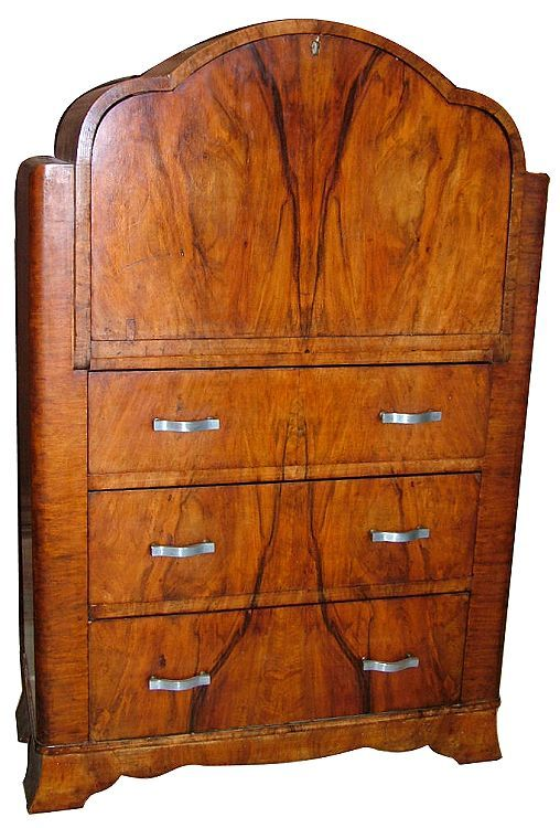 Art Deco Burl Walnut Bureau