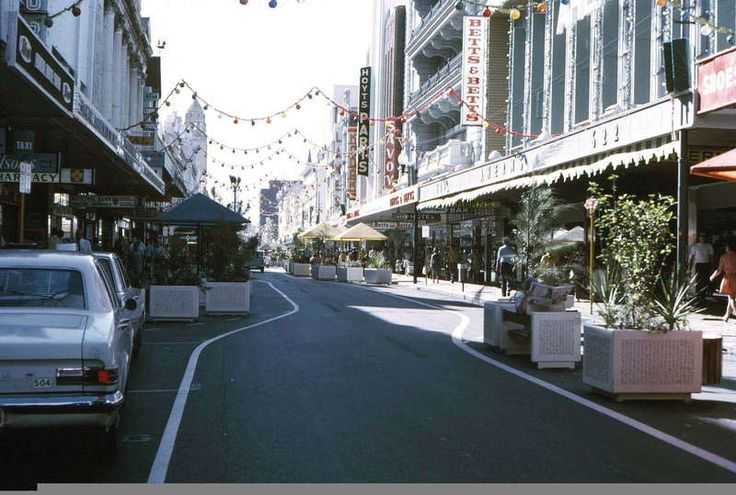 Hay Street, not yet a Mall, early 1970s