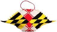 Diagonal Maryland Flag Crab Shell Ornament - More Details
