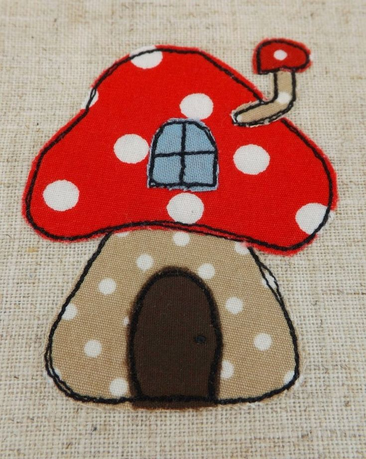SewforSoul: Personalised Egg Cosy. Free Style Machine Embroidery Easter Toadstool Cozy. Raw Edge Applique.