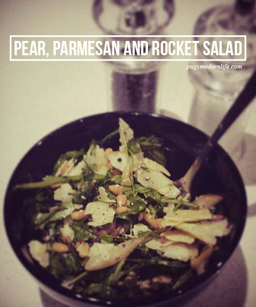Parmesan, Pear and Rocket Salad