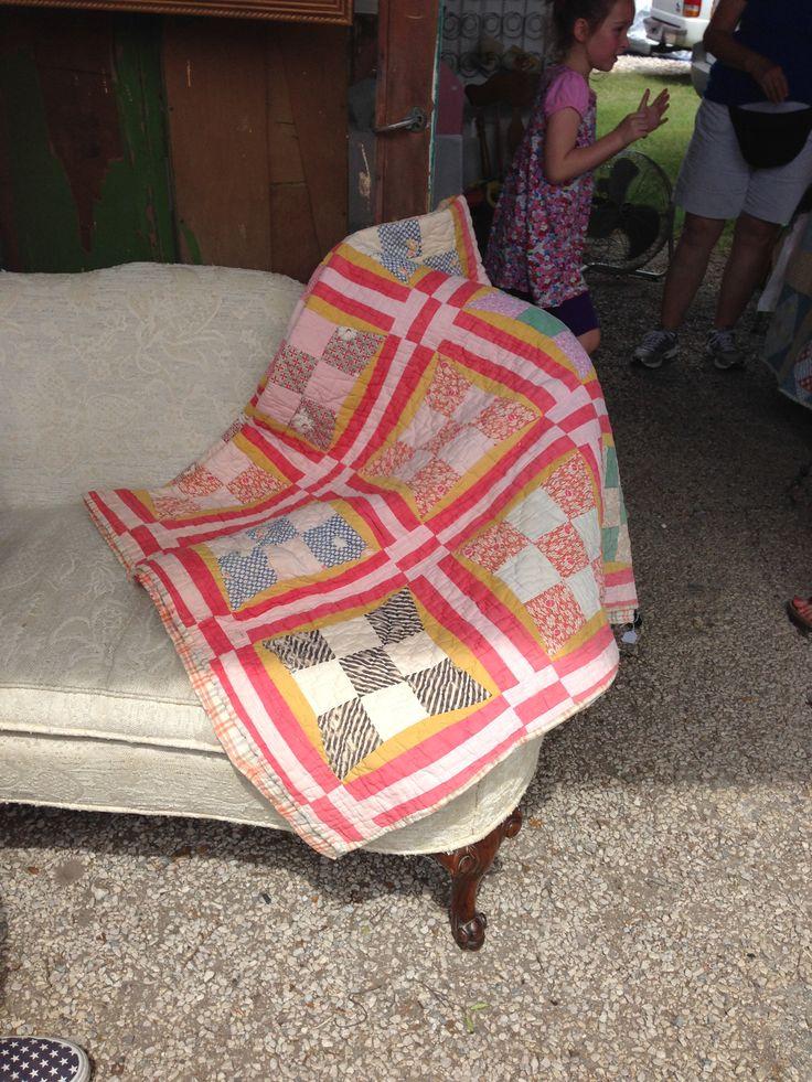Vintage quilt from McKinney trade days