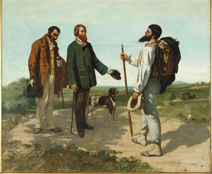 Gustave Courbet | La Rencontre dit aussi Bonjour Monsieur Courbet | Images d'Art