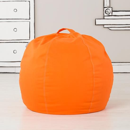 "30"" Orange Bean Bag (Orange)  | The Land of Nod"
