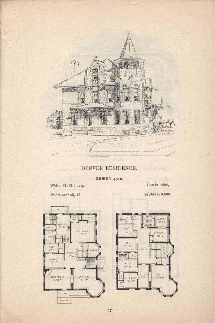 129 best houses and plans historic homes images on pinterest artistic city houses no 43 vintage house plansvictorian