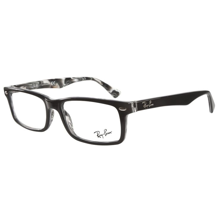 ray ban prescription eyeglass frames  ray ban rb5162 2262 black on white horn prescription eyeglasses by ray ban