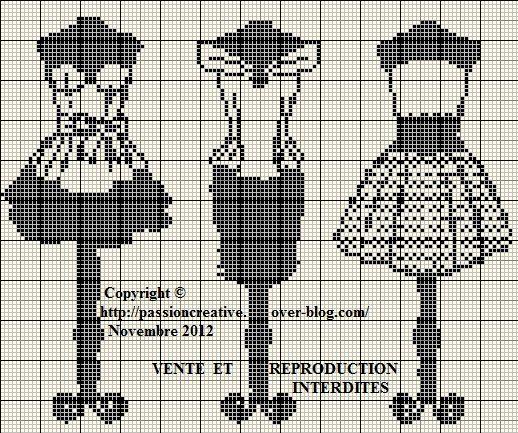Grille gratuite point de croix : Robes noires - Le blog de Isabelle