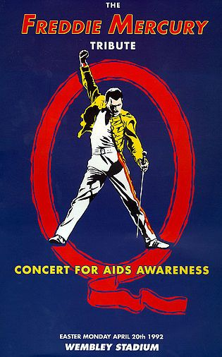 The Freddie Mercury Tribute Concert for Aids Awareness | Wikipedia.org/