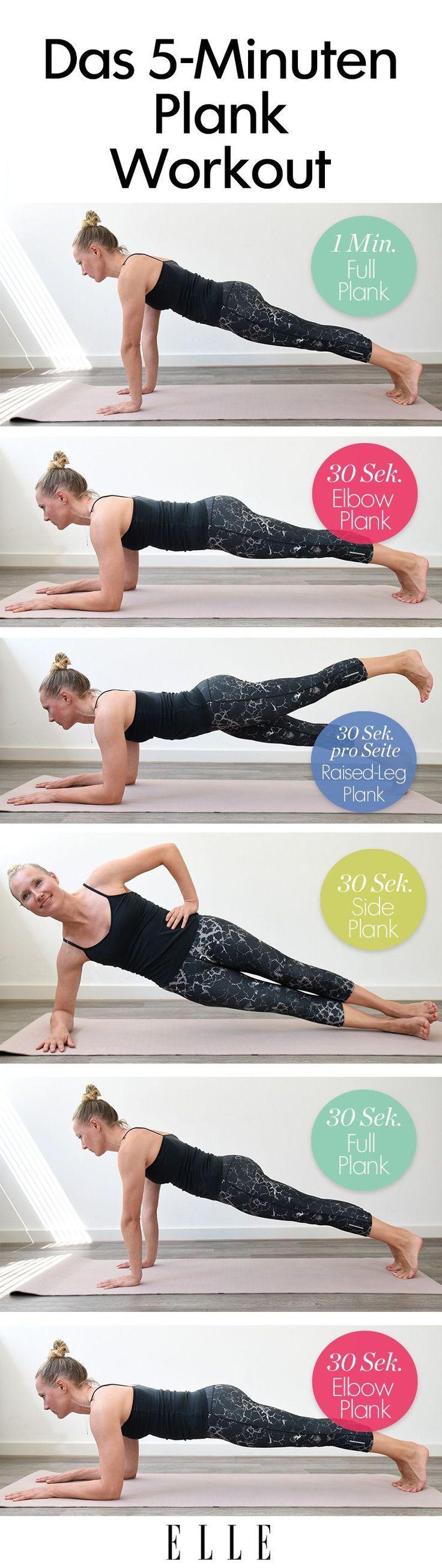 Der Liege- und Unterarmstütz, sogenannte Planks, sind die beste Übung für ein…