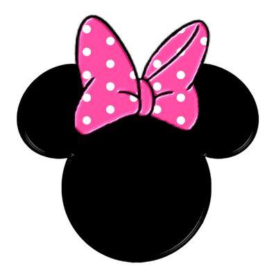 Siluetas de la cabeza de Minnie.