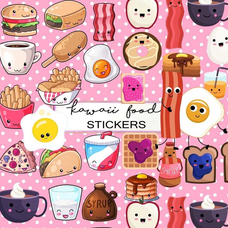 Kawaii Food Kawaii Emoticons Stickers,Milk and Cookies Cute Kitsch Stickers