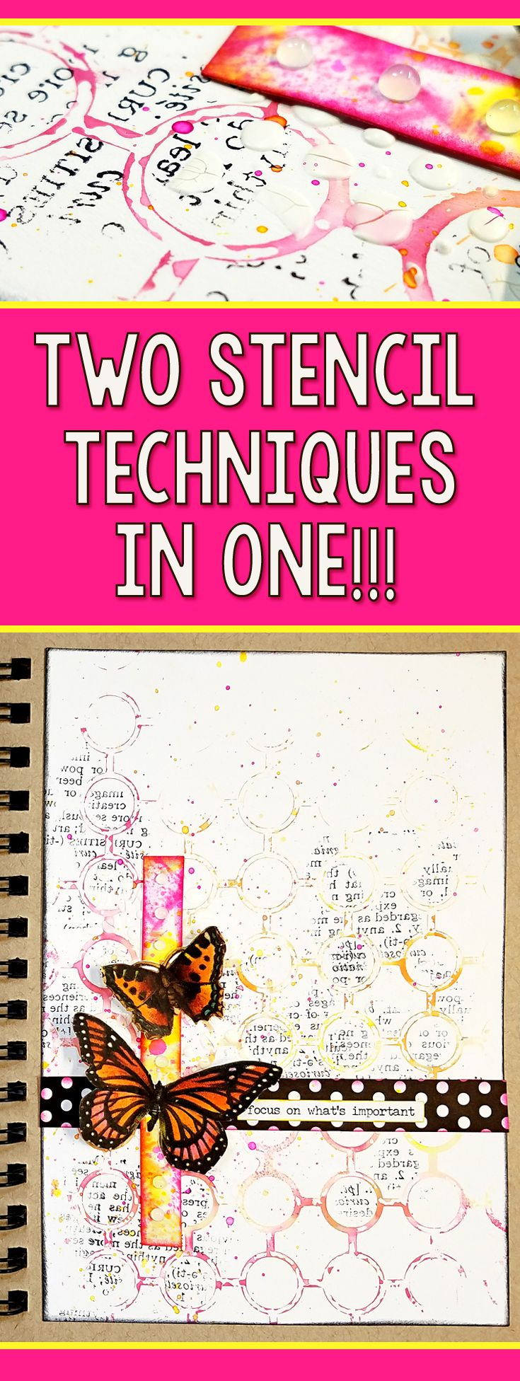 Two Art Journal Stencil Techniques in One! | Mixed Media Art Journal With Me