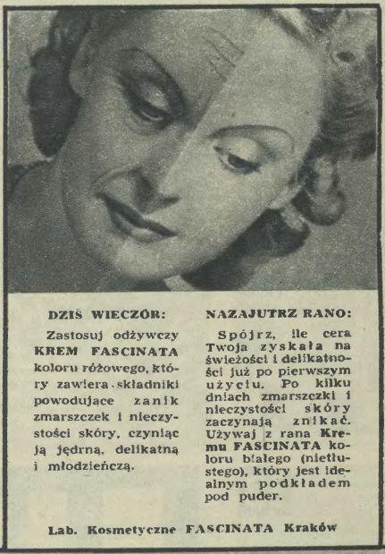 Atqa Beauty Blog :: Dziś wieczór. Reklama prasowa, 1945.