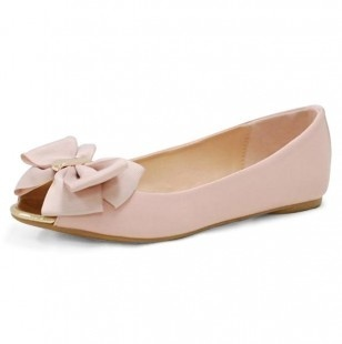 Pale Pink Bow Flat