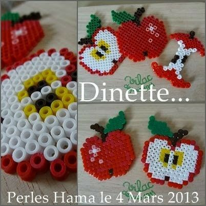 Perler bead apple pattern
