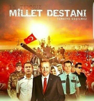 """#TÜRKİYE""""Herkesin, tek bayrak, tek vatan, tek devlet için kenetlendiği günün adı 15 Temmuz'dur."""""""