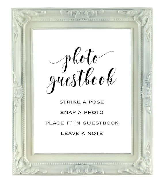 Photo Guestbook Sign 8x10 Instant Download Wedding Sign