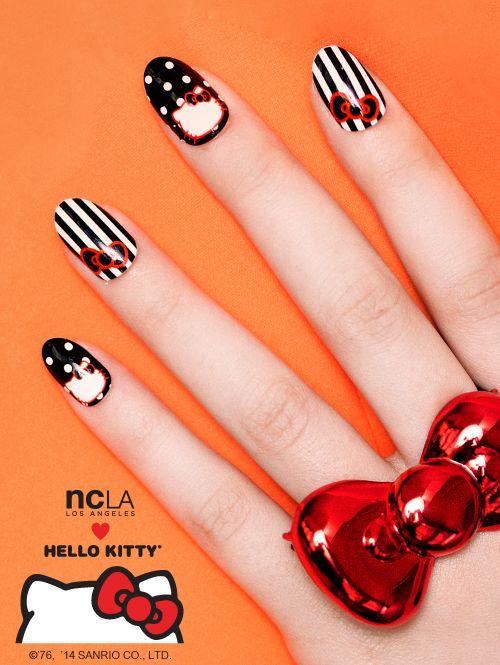 Cute #NCLA x #HelloKittynails!