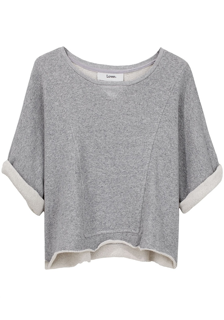 Lover sweatshirt- can be done with an oversized gray sweatshirt