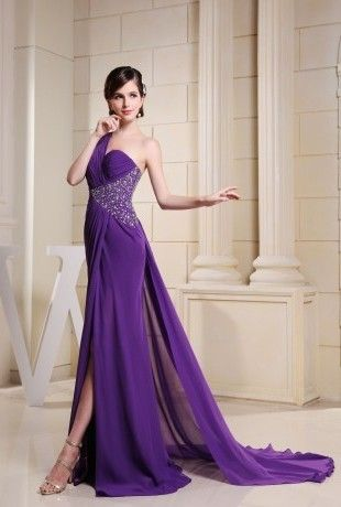http://fr.trouws.com/robe-de-c%C3%A9r%C3%A9monie-c4 Sexy une epaule robe longues pourpres du soir - €122.00 , Trouws.com