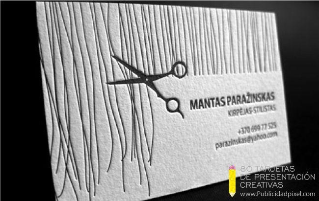 diseños de tarjetas de presentacion creativas para peluqueros