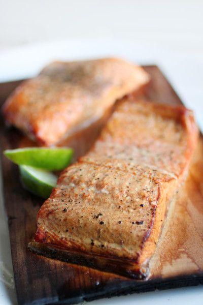 Cedar Plank Salmon with Lime