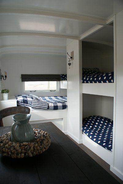 bed.... inside a caravan .
