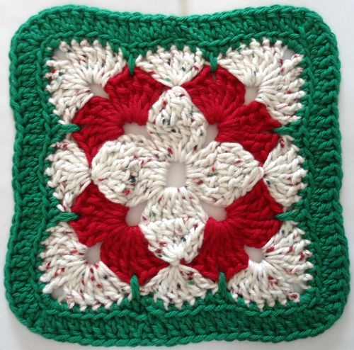 Crochet Granny Square Dishcloth Pattern : Best Free Crochet #279 Christmas Flower Crochet ...