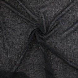 NY Designer Crinkled Wool Gauze – Black