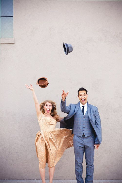Monday Morning Obsession: Classic Movie Themed Engagement Photos - Wedding Party :)